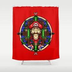 Mario's Melancholy Shower Curtain