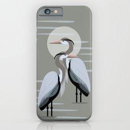 Great Blue Heron Pair iPhone Case