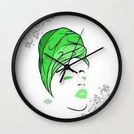 Lady Wrap (green) Wall Clock