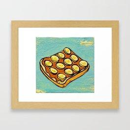Peanut Butter & Banana Sandwich Framed Art Print