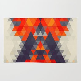Abstract Triangle Mountain Rug