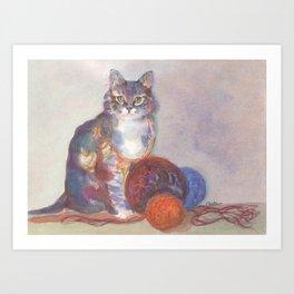 Purling Puss Art Print