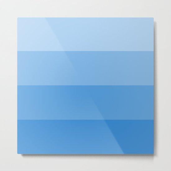 Four Shades of Blue Metal Print