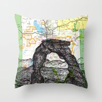 utah Throw Pillows featuring Utah by Ursula Rodgers