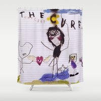 the cure Shower Curtains featuring The Cure - Self Titled by NICEALB