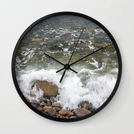 Small wave at Pebble beach Wall Clock