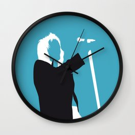 No075 MY STEWART Minimal Music poster Wall Clock