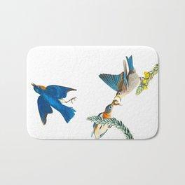 Blue Bird Vintage Illustration Bath Mat