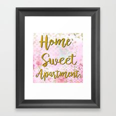 Home Sweet Apartment Framed Art Print