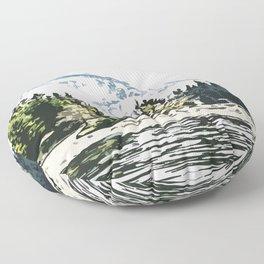 Mountain Forest #mountain #nature Floor Pillow