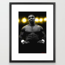 IRON MIKE TYSON Framed Art Print