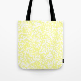 Small Spots - White and Pastel Yellow Tote Bag