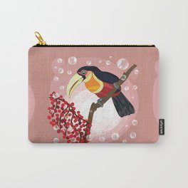 Green-billed toucan and berries Carry-All Pouch