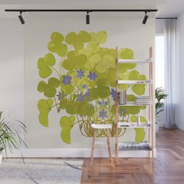 Plant life in violet palette Wall Mural
