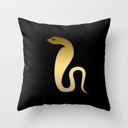 Ancient Egyptian snake – goddess Renenutet Throw Pillow