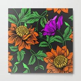Tropical Flowers Garden Metal Print
