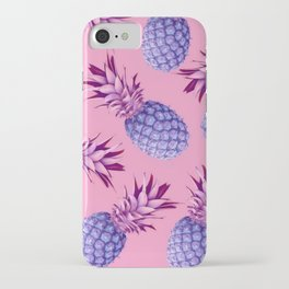 Violet pineapples iPhone Case
