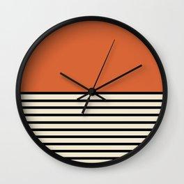 Sunrise / Sunset I - Orange & Black Wall Clock