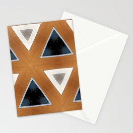 Triangles in Line Stationery Cards