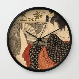 Lovers In The Upstairs Room Wall Clock
