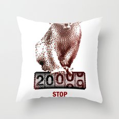 Save Golden Monkeys Throw Pillow