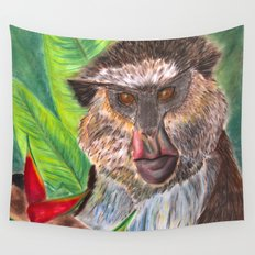 Mona Monkey Wall Tapestry