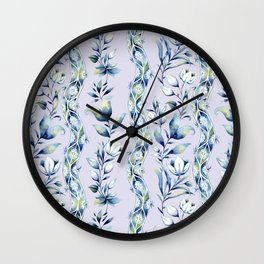 french provincial stripe pattern Wall Clock