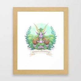 Ysera of the Dream Framed Art Print