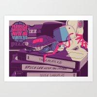 ninja turtles Art Prints featuring TEENAGE MUTANT NINJA TURTLES by Mike Wrobel