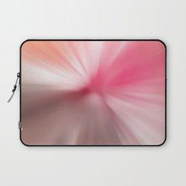 Peach Pink Blurr Abstract Design Laptop Sleeve