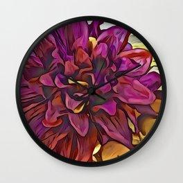 Fall Hues Wall Clock
