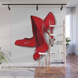 Put on your red shoes and dance the blues Wall Mural