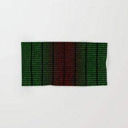 Binary Green and Red With Spaces Hand & Bath Towel
