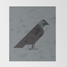 European Jackdaw vector illustration Throw Blanket