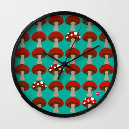 Mushroom | Ombre | Peacock Green Wall Clock