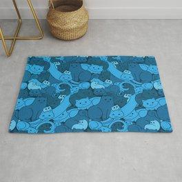 Purrrfect Pattern (Blue) Rug