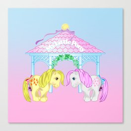 g1 my little pony snuzzle and butterscotch Canvas Print