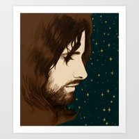 aragorn Art Prints featuring Aragorn by cos-tam