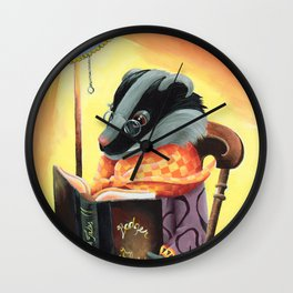 Grandma Badger Wall Clock