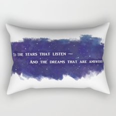 To the Stars that Listen (White) - A Court of Mist and Fury Rectangular Pillow