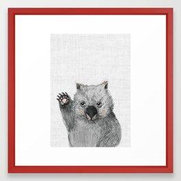 Wombat fellow Framed Art Print