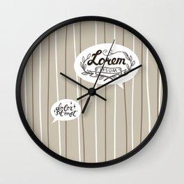 Designer SmallTalk Wall Clock