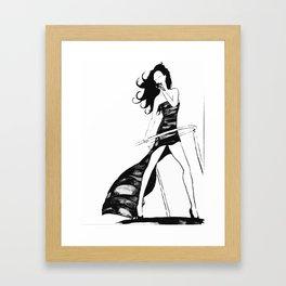 Victoria Beckham Framed Art Print