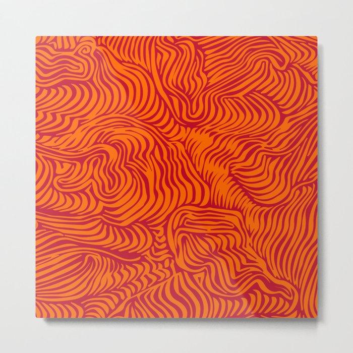 orange red flow Metal Print