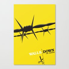 Walls Down for freedom Canvas Print