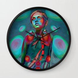 """Psychedelic Pop Fantasy"" (Twiggy) Wall Clock"