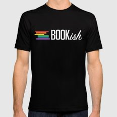 Bookish and Proud Black Mens Fitted Tee 2X-LARGE