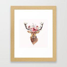 Bohemian Deer Framed Art Print