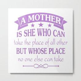 A Mother Metal Print