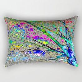Digital Tree Neon Rectangular Pillow